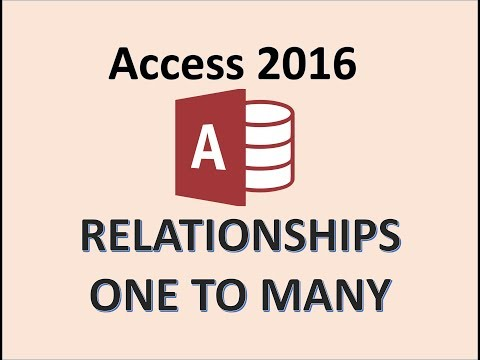 Access 2016 - Relationships - How To Create One To Many Relationship in Database Between Two Tables