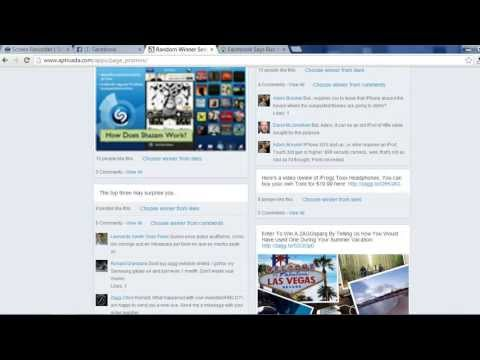 How To Use The Free Random Winner Selector For Facebook Timeline Contests Tool
