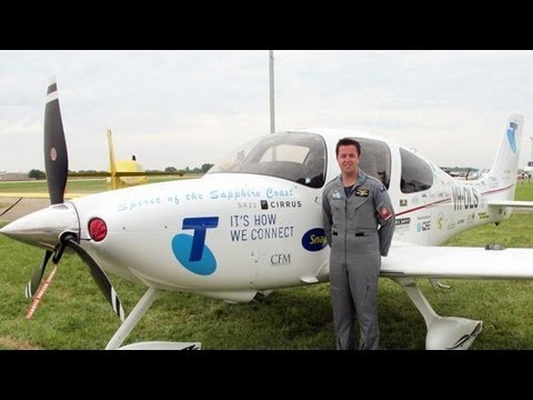 Ryan Campbell from Australia - Around The World Solo Flight achievement