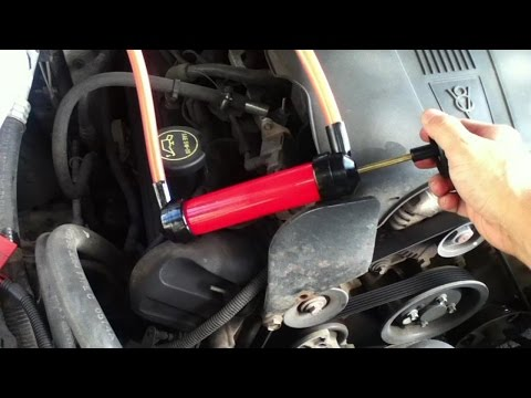 How to pump Transmission Fluid out of dipstick tube - renew ATF