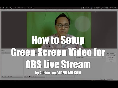 How to Setup Green Screen Video for OBS Live Stream   Open Broadcaster Software   VIDEOLANE.COM