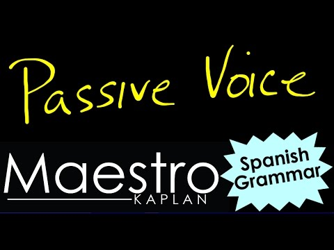 How to write in PASSIVE VOICE / VOZ PASIVA in Spanish (examples of Active and Passive voice)