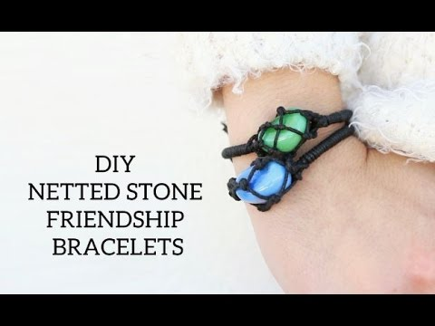 DIY Netted Stone Friendship Bracelets