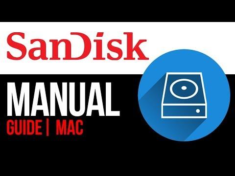 SanDisk external hard drive Set Up Guide for Mac 2019
