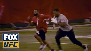 Tyron woodley works out with David Johnson from the Arizona Cardinals | UFC on FOX