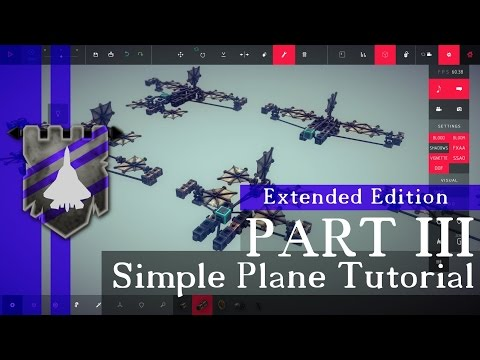 How to Build Realistic Steering in Besiege - Basic Simple Plane Tutorial Part 3/3