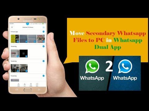 Move Hidden Whatsapp Files in Whatsapp Dual App