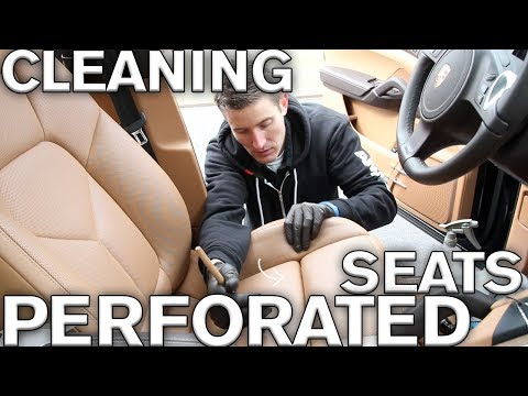 Trick to cleaning perforated leather car seats