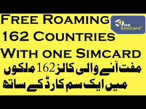 Free International Roaming - One Sim Card Travel SIM Card |Works in 220 Countries No Contract