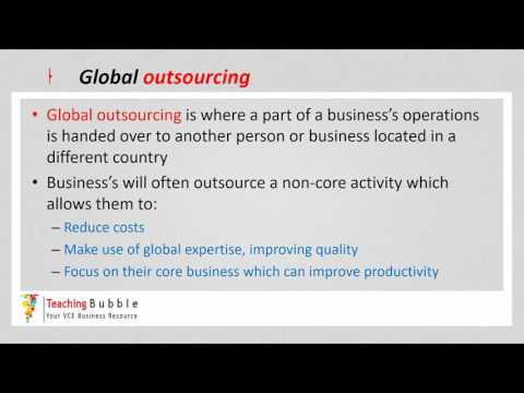 VCE Business Management - Global Strategies in Operations