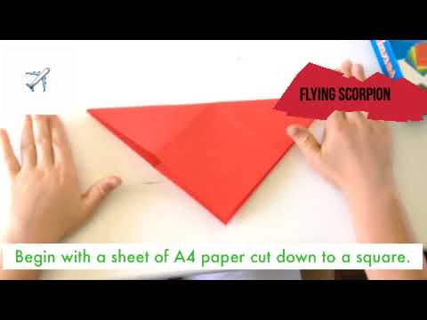 How to fold a  Flying Scorpion Jet