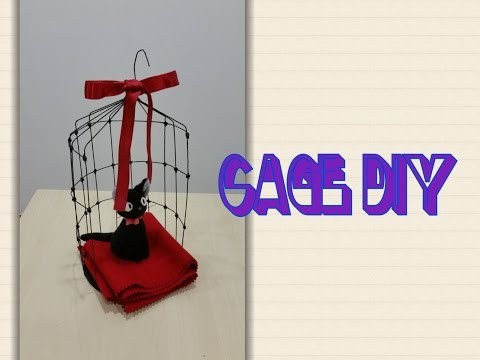 Cage decor out of wires and cardboard tutorial