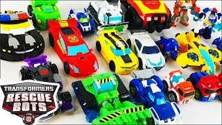 Transformers Rescue Bots Toy Collection With Heatwave Boulder Bumblebee Chase