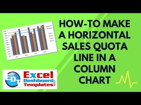 How-to Make a Horizontal Sales Quota Line in an Excel Column Chart