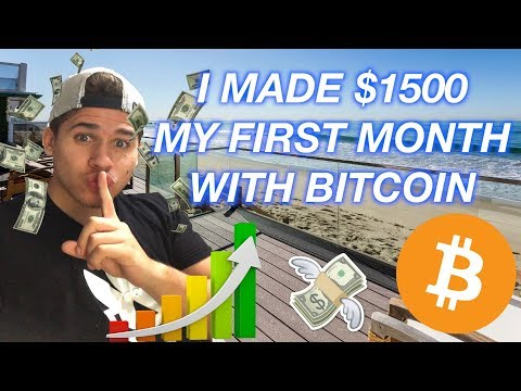 First Month with Bitcoin I Made $1500! Here's How I Did It! Bitcoin Beginners
