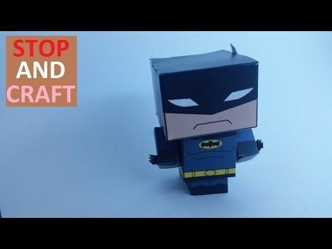 How to Make a Paper Batman - Short Version
