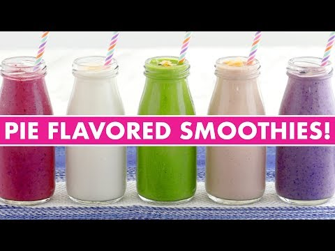 Healthy Pie Flavored Breakfast Smoothies!  - Mind Over Munch