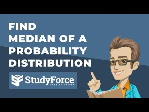 📚 How to find the median of a probability distribution