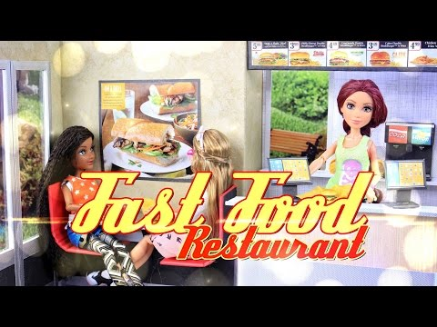 DIY - How to Make: Doll Fast Food Restaurant - Handmade - Crafts