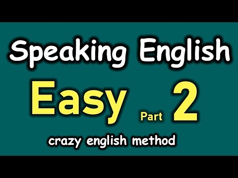 Daily English Conversation with Crazy English Method 😍 Easy To Speak English Fluently 👍 Part 2
