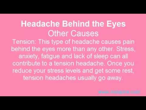 Headaches Behind the Right Eye and Left Eye