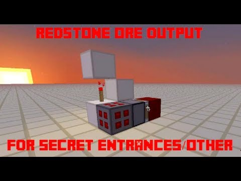 Redstone ore powered door or other device (secret entrance) - Minecraft 1.7.2