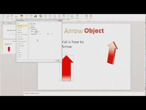 Creating Arrow Objects in Microsoft Power Point