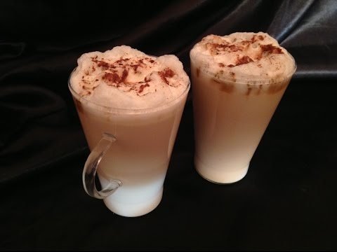 Cappuccino without a coffee machine,كيفية عمل قهوة الكابوتشينو بدون الة قهوة,Cappuccino sans machine