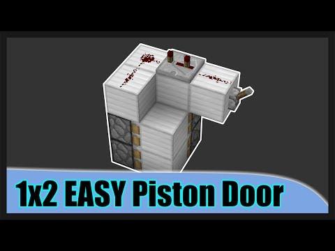 Minecraft 1x2 Redstone (secret) Door! 2018 - Easy To Follow Video