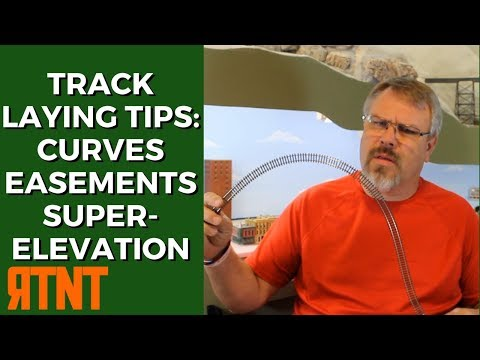 Model Railroad Track Laying Tips  Curves Easements and Superelevation