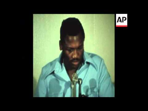 SYND 19 6 74 BOXER JOE FRAZIER HOLDS PRESS CONFERENCE IN NEW YORK