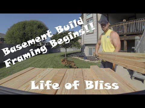 Basement Build 2 | Framing Begins | Life of Bliss