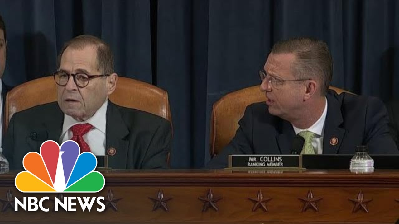 Nadler And Collins Clash Over Point Of Order As Impeachment Markup Resumes | NBC News