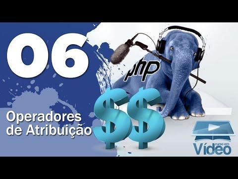 Operadores de Atribuição - Curso PHP Iniciante #06 - Gustavo Guanabara