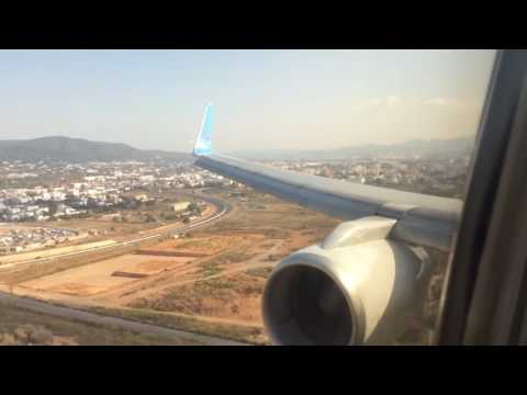 Thomson Airways 757 arriving at Ibiza Airport.
