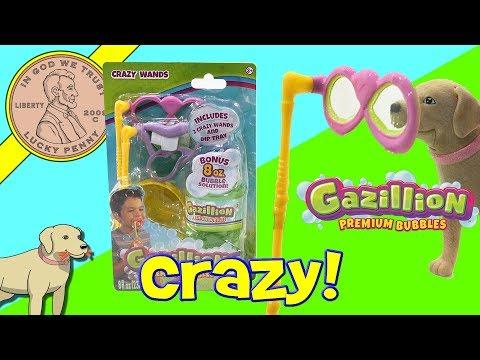 Gazillion Bubble Crazy Wands Funny Faces!