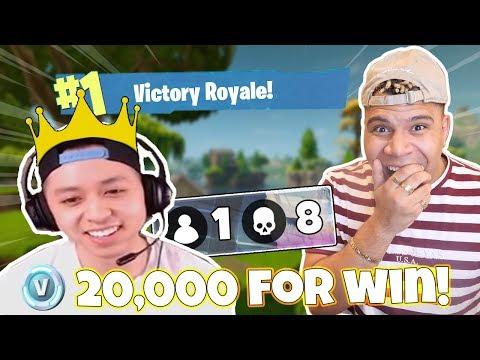 1 KILL = $1000 to Random Twitch Streamers (Fortnite: Battle Royale)