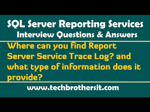 Where can you find Report Server Service Trace Log & what type of information does it provide?