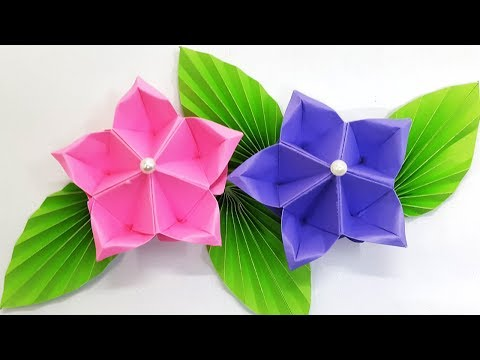 Paper flower tutorial (Origami Flower) - Amazing and easy diy flowers