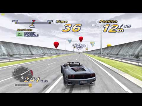 Outrun 2006 Coast 2 Coast - PCSX2 1.3.1 - Software vs OpenGL