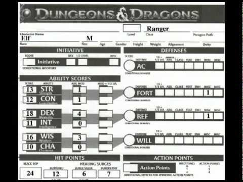 D&D: The 4e Character Sheet