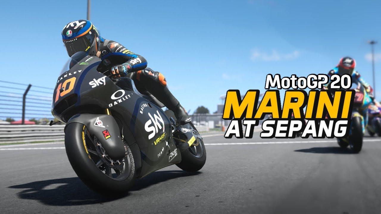 MotoGP 20 Gameplay - Last to First with Luca Marini at Sepang