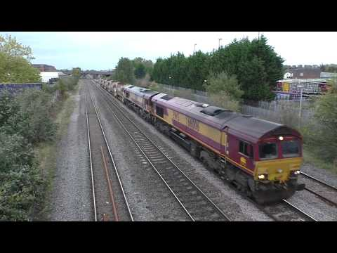 (HD) A Cross Country HST & Double 66's at Burton on Trent - 9/10/17