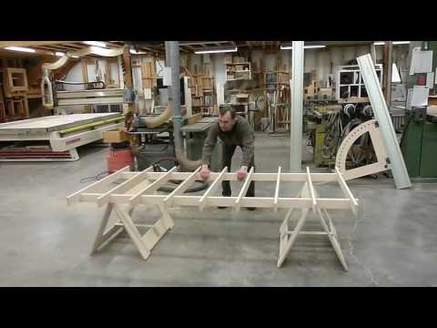 Track Saw Portable Cutting Platform and Track Saw Protractor