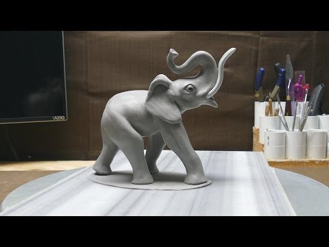 Elephant sculpture, part 10:  Eyes and Ears