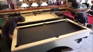 Pool Table Installation: Step 6 - The Felt