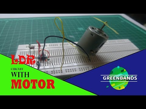 HOW to make a Simple LDR circuit running Motor with full speed