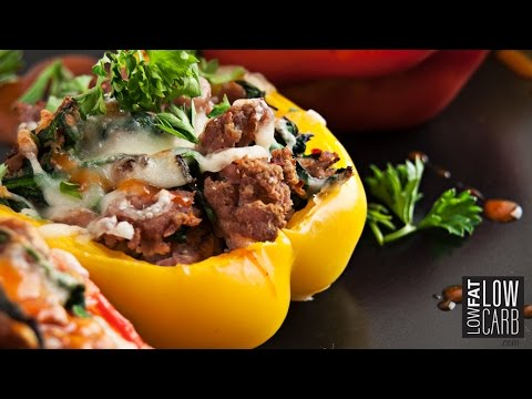 Stuffed Pepper Recipe - Tasty Ground chicken Recipe!