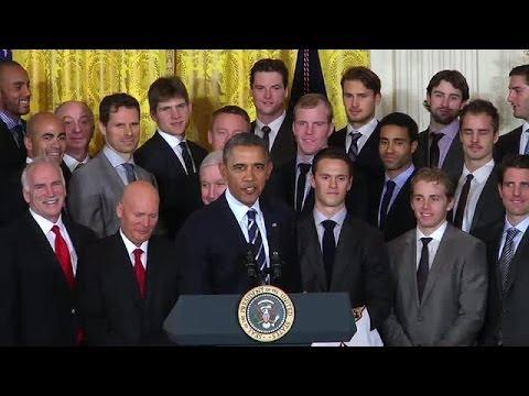 Blackhawks Honored at the White House (Full)