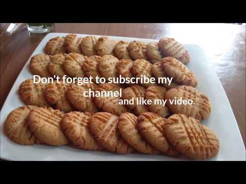 9 ingredients peanut butter cookies recipe | homemade bakery-style peanut butter cookies-